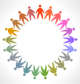 icon of colorful people pictogram vector image vector image