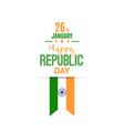 india republic day greeting card banner vector image vector image