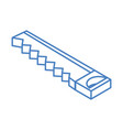 isometric repair construction saw work tool vector image vector image