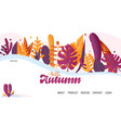 landing page - hello autumn for school autumn vector image vector image