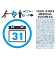 Last Month Day Icon with 1000 Medical Business vector image