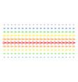 logout shape halftone spectral pattern vector image vector image