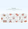 love advertising flat line art vector image vector image