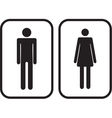 Man and Woman restroom signs vector image