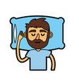 man with hairstyle desing sleeping vector image