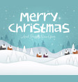 merry christmas and happy new year 2019 on blue sk vector image vector image