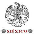 mexican eagle vector image vector image