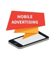 Mobile advertising and marketing vector image