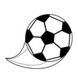 monochrome silhouette with soccer ball vector image vector image