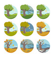 months of the year vector image vector image