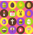 Pink Happy Easter Seamless Pattern with Circles vector image vector image