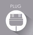 Plug and Usb design vector image vector image
