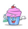 professor cupcake character cartoon style vector image vector image