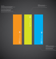 Rectangle template consists of three color parts vector image vector image