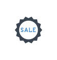 sale badge related glyph icon vector image vector image