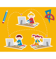 School social network communication vector image