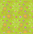 seamless repeating floral background vector image vector image