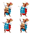 Set of musketeers vector image vector image