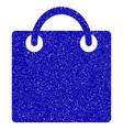shopping bag icon grunge watermark vector image