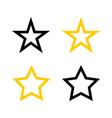 stars icons star yellow icons star black stars vector image vector image