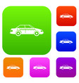 taxi set collection vector image vector image