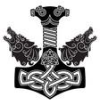 thor s hammer - mjollnir scandinavian ornament