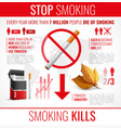 tobacco products infographic set vector image vector image