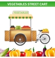 Vegetables Street Cart vector image vector image