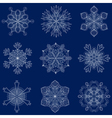 vintage snowflake set in zentangle style 9 vector image vector image