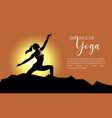 yoga background template vector image