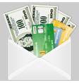 open the envelope vector image