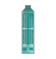 isolated building tower vector image