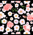 roses seamless pattern a bouquet of delicate vector image