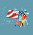 a group friends are celebrating usa vector image vector image