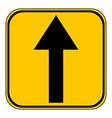 Arrow straight button vector image vector image
