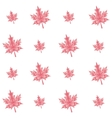 autumn polygonal maple leaves seamless pattern vector image vector image