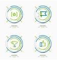 Award icon set Logo collection vector image
