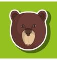 bear head design vector image