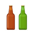 beer bottle icons in flat style isolated on white vector image