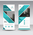 blue abstract triangle business roll up banner vector image