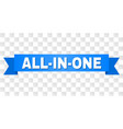 blue tape with all-in-one title vector image vector image