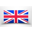 Britain Flag with soft shadow vector image