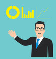 business man concept flat presentation vector image