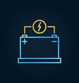 car battery colored outline icon vector image