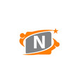 career coaching initial n vector image vector image