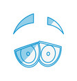 cartoon eyes expression vector image vector image