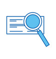 check bank with magnifying glass vector image vector image