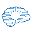 Chip brain vector image