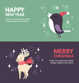 Christmas and New Year Cute Hand Drawn Decorative vector image vector image