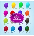 Colored balloons on a blue background vector image vector image